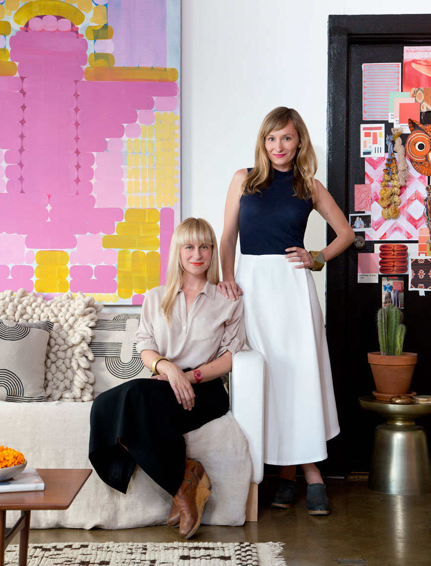 Lily and Hopie Stockman of Blockshop textiles